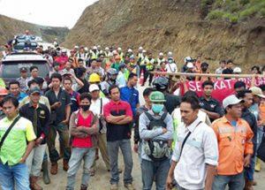 Demo buruh tambang PT.Bintang Delapan Mineral (BDM)